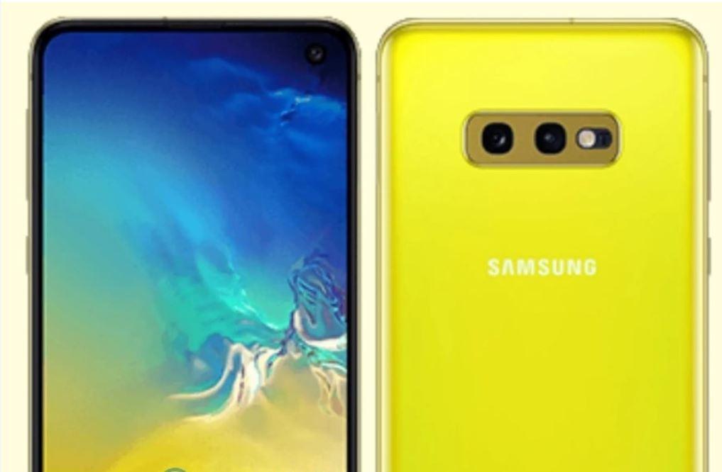 Samsung Galaxy S10e elektrinė geltona