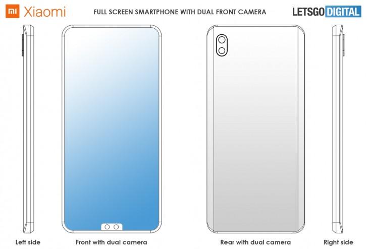 Xiaomi išmanusis telefonas su priekine dviguba kamera
