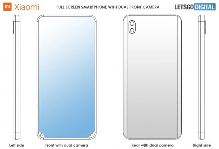 Xiaomi išmanusis telefonas su dviguba priekine kamera ekrano šonuose